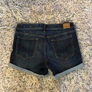 NWT American Eagle midi jean denim shorts dark